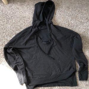 ALO scoop neck hoodie, size XS